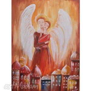 obraz anioły zakochane - obraz, anioły, anioł, ślub, prezent
