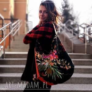 Flowers hobo na ramię sabi tatka torbanaramię, torba hobo, worek