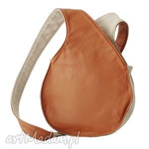 08-0007 brązowa torebka listonoszka / fajne torebki młodzieżowe bluebird