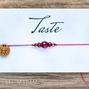 hand-made bransoletki whw taste ruby agate