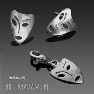 maski weneckie - komplet rezerwacja - srebrne komplety, sztyfty charms