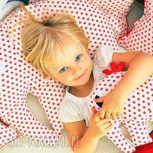 pokoik dziecka poduszka dla słonik red stars mały, poduszki, dziecko, pokój