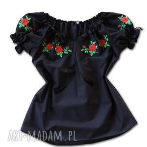 haftowana bluzka koszula góralska róże roz xl folk, bluzka, góralska, ludowa