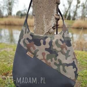 duża torba moro z czernią, na ramię, torebka, prezent dla kobiety