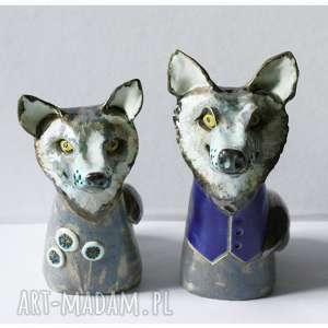 wylegarnia pomyslow zestaw 2 wilków, ceramika, wilk, oryginalne prezenty