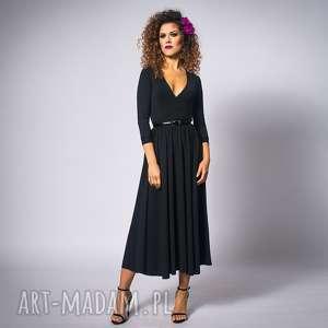 Brigitte - black night, elastyczna, elegancka, kopertowa