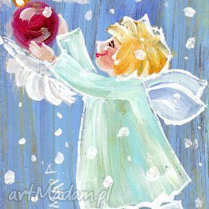 Prezent Aniołek z bombką, aniołek, aniol, bombka, prezent, 4mara