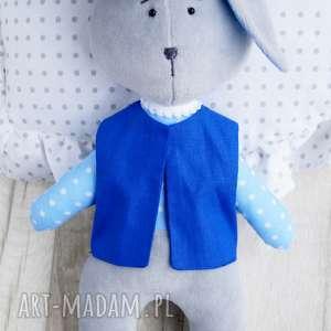 ręcznie zrobione dla dziecka zajączek maskotka przytulanka