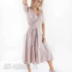 sukienka liberty nude latte, spodnie, spódnica, t shirt, sukienka, dres