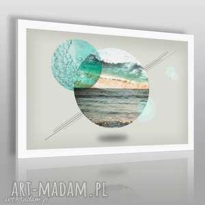 obraz na płótnie - koła morze 120x80 cm 37101, morze, pejzaż, krajobraz