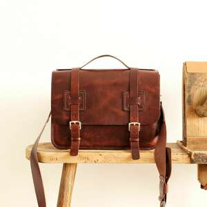 Skórzana torba na ramię conoantine listonoszka ursus maxymus
