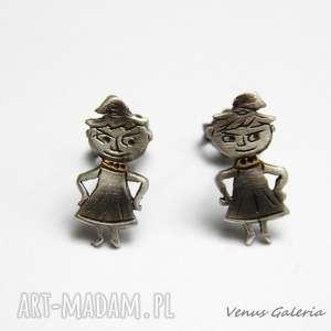 mała złośnica - kolczyki srebrne, srebro, oksyda, złośnica, kolczyki, bajka