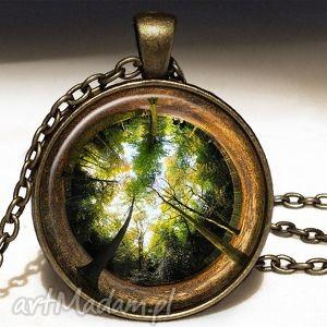 ręcznie wykonane naszyjniki las - duży medalion z łańcuszkiem