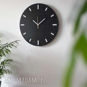 40 cm, zegar ścienny, czarny, nowoczesny zegar,, zegar, nowoczesny, duży, czarny