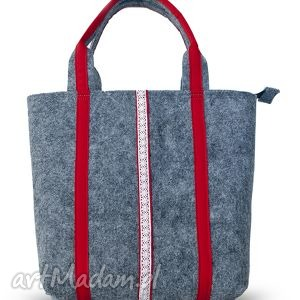 handmade torba filcowa do ręki