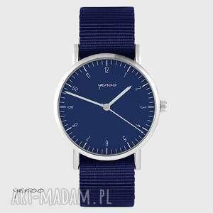 zegarki zegarek yenoo - simple granatowy, nato, unisex, zegarek, pasek