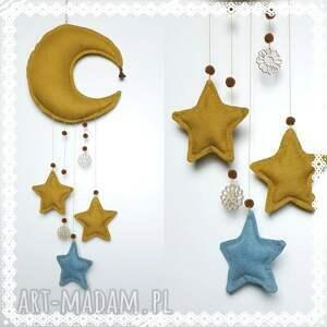 handmade pokoik dziecka księżyc zawieszka -musztardowy