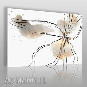 vaku dsgn obraz na płótnie - kwiat beżowy 120x80 cm 24501, kwiat, abstrakcja