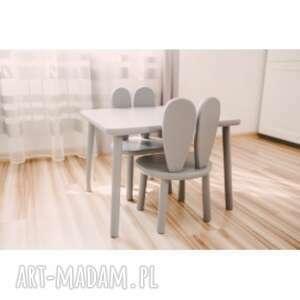 stolik i krzesełko królik szare, krzesełko, meble dzieciece, pokój