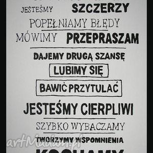 OBRAZ RĘCZNIE MALOWANY - CYTAT 02 70x50cm, obraz, płótno, cytat