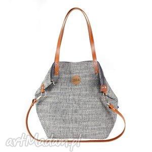 ręcznie wykonane na ramię torba worek grey #carmel