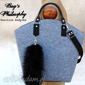 ręczne wykonanie torebki shopper bag z kitą