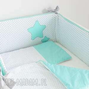 hand made pokoik dziecka ochraniacz do łóżeczka słodkie sny mięta