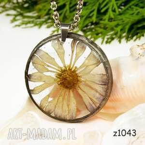 Prezent z1043 Naszyjnik z suszonymi kwiatami herbarium, naszyjnikzkwiatów, medalion
