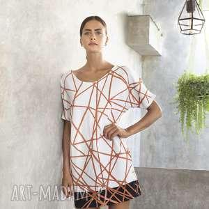 Sukienka geometryczna bawełniana, geometria, design, oryginalna