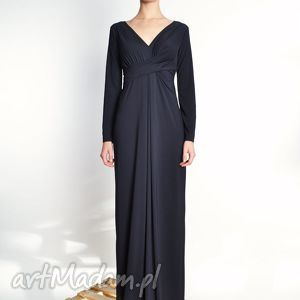 steffany maxi / black - długa suknia rozm 34 40, jersey, długa, wieczorowa