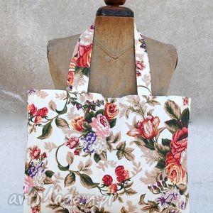 "Shopper ""kwiaty we włosach "" torebki bags philosophy eko"