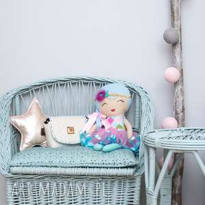 torebka dla dziewczynki 245 sweet love kremowa, dziecięca, torebeczka, dziewczynka