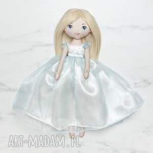 lalki lalka księżniczka w błękitnej sukni balowej, lalka, laleczka