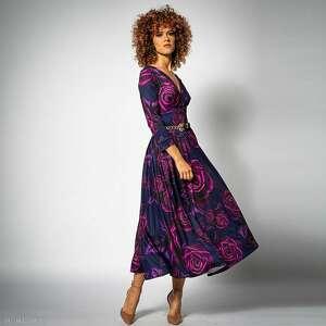 amelia magic rose - koktajlowa sukienka, wieczorowa, koktajlowa, elegancka