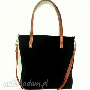Shopper bag, modna, czarna, torba, musthave, szyte