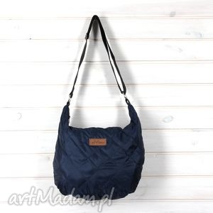 hand-made na laptopa torba pikowana listonoszka na ramię hobo