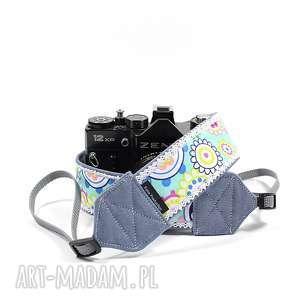 Prezent Pasek do aparatu camera strap koronka i kolorki, pasekdoaparatu, fotograf