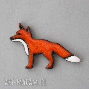 rudzielec-broszka ceramiczna, minimalizm design, skandynawski ruda sprytna, prezent