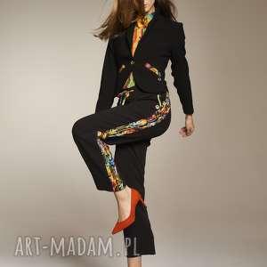 spodnie alina 7710, spodnielampasy, proste, kobiece