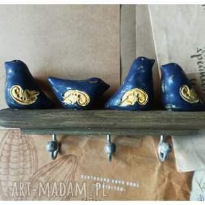 ręczne wykonanie ceramika wieszak z ceramicznymi kuleczkami na haczykach