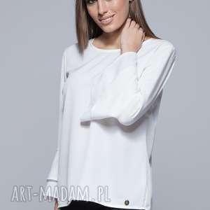 bluzka z szerokimi rękawami- ecru h030 - bluzka, bluzka kobieca, elegancka, moda