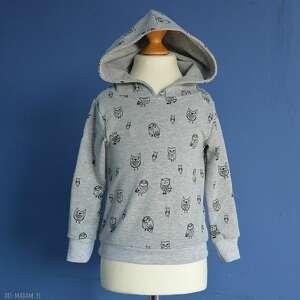 sowy całoroczna dziecięca bluza z kapturem, dresówki, rozmiary 68-128