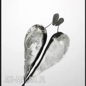 oryginalna grafika-czarno-biała, abstrakcja do salonu, obrazek na prezent, plakat