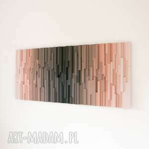 mozaika obraz drewniany 3d vultures na zamówienie, mozaika, rękodzieło, loft