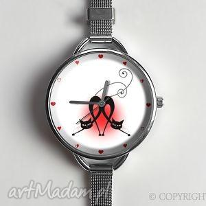egginegg kocia miłość - zegarek z dużą tarczką 0879ws