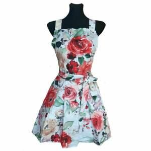fartuch kuchenny sukienkowy czerwone róże, fartuszek sukienkowy