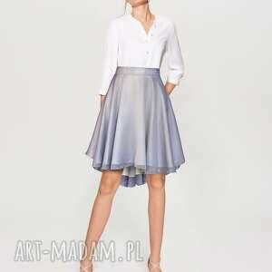 lila - mieniąca się spódnica z koła, ecru, zkoła, elegancka, liliowa, nawesele