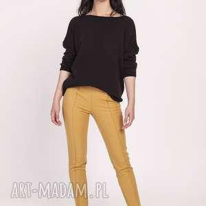 dzianinowa bluzka, swe121 czarny, sweter, dzianina, jesień, modny