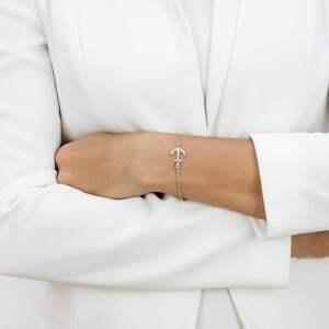 ręcznie robione bransoletka srebrna z kotwicą hold on to your values /trzymaj się swoich