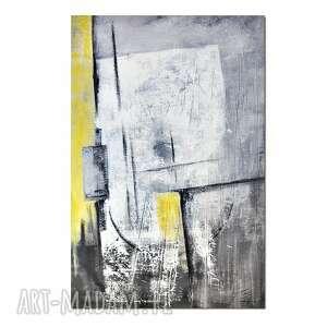 Solis ortus, abstrakcja, nowoczesny obraz ręcznie malowany